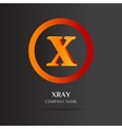 X Letter logo abstract design vector image