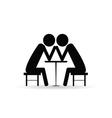 arm wrestling black symbol vector image
