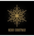 Festive gold background with golden snowflakes vector image