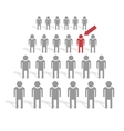 Crowd of people vector image