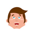 guy happy emoji boy merry emotion isolated young vector image