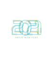 2021 happy new year card for seasonal holidays vector image vector image