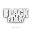 3d letters black friday for your design vector image vector image