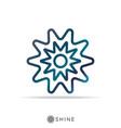 abstract sun star logo icon shine star logo vector image