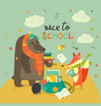 back to school with cute woodland vector image