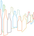 Background with bottles vector image vector image