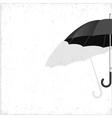 black umbrella on grunge background vector image vector image