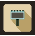 Blank billboard icon flat style vector image vector image