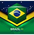 brazil flag modern backgrounds design vector image