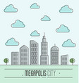 buildings silhouette cityscape vector image