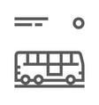bus line icon vector image
