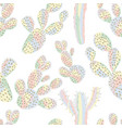 cactus seamless pastel color vector image