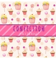 Cakes pattern on a pink background vector image vector image