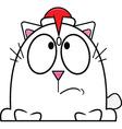 Cartoon Cat Santa Hat vector image