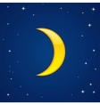 cartoon glossy moon vector image vector image