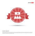 cinema movie icon - red ribbon banner vector image