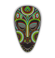 colorful african mask vector image