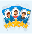 customer review with five star rating vector image