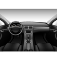 Dashboard - car interior vector image vector image