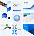 design set of blue colourful abstract vector image vector image