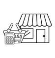 ecommerce online store cartoon vector image vector image