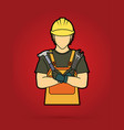 engineer cartoon graphic vector image