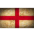 Flags England with dirty paper texture vector image