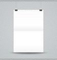 fold hanging poster mockup vector image vector image
