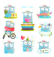 funny cute kids monster character vector image vector image