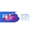 gift card header banner vector image vector image