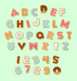 gingerbread christmas cookie alphabets pack vector image vector image