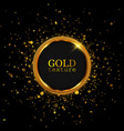 gold glitter dust abstract luxury background vector image vector image