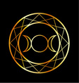Gold Wiccan symbol Triple Goddess vector image vector image