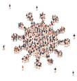 group people in shape coronavirus form vector image vector image