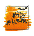 happy halloween bats on background grunge stamped vector image vector image