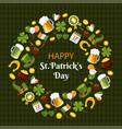 happy saint patricks day flat banner vector image vector image