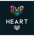 heart as a colorful diamond vector image vector image