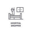hospital dropper thin line icon sign symbol vector image