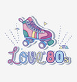 i love 80s cartoons vector image vector image