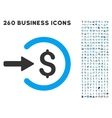Income Icon with Flat Set vector image