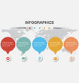 infographic design template for business vector image
