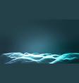 landscape cyber concept futuristic vector image vector image