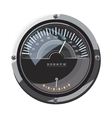 Large round speedometer icon cartoon style vector image vector image