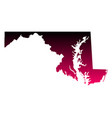 map of maryland vector image