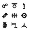 mechanism icon set simple style vector image