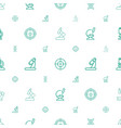 microscope icons pattern seamless white background vector image vector image