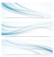 Modern abstract smoke swoosh line header vector image vector image
