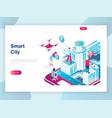 modern flat design isometric smart city vector image