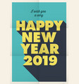 new-year-2019-fold-poster vector image