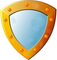Old Empty Shield vector image vector image